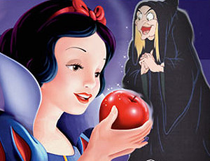 SnowWhite getting a red apple